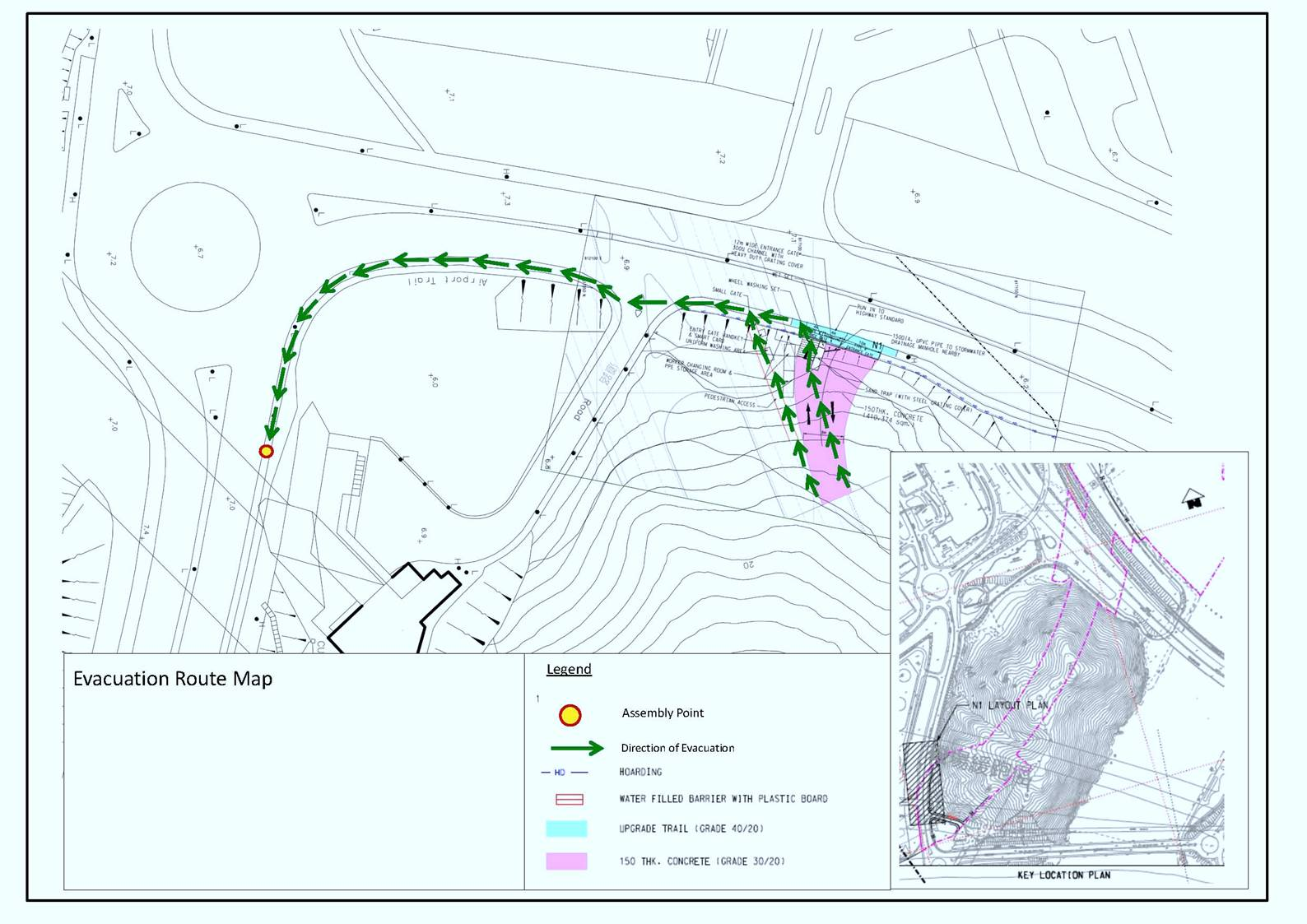Construction site emergency evacuation plan for for Plan construction